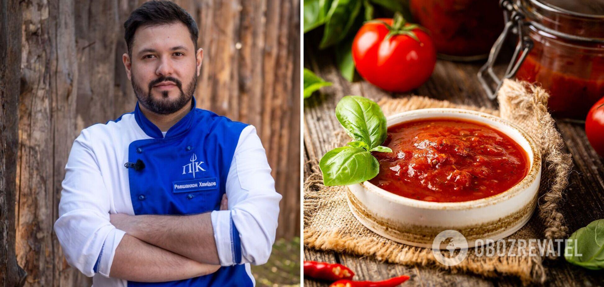 Равшан Хамидов поділився рецептом смачного соусу до м'яса та птиці,