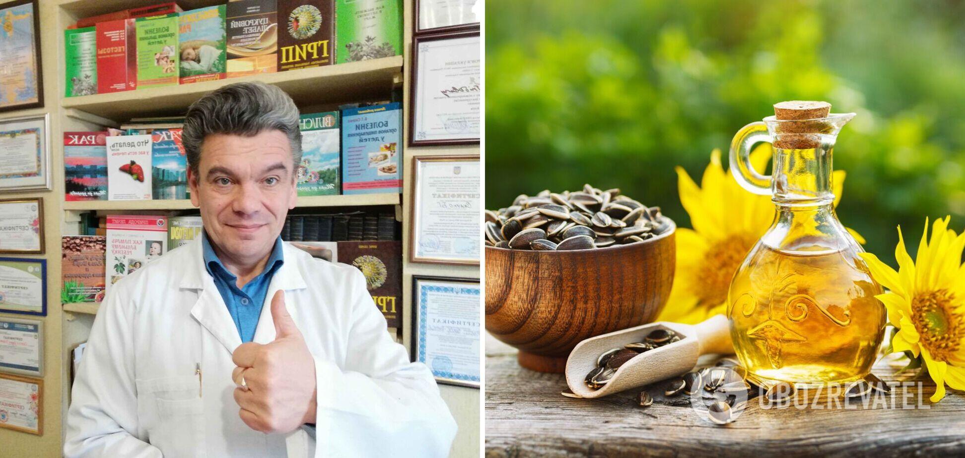 Дієтолог Борис Скачко розповів, чим замінити соняшникову олію