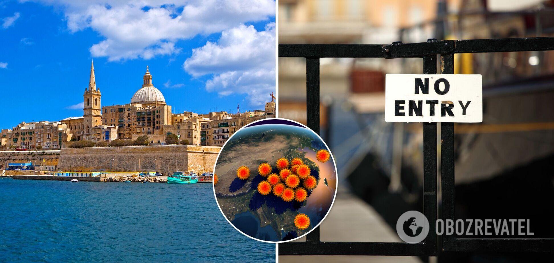 Мальта внесла Україну до 'темно-червоного' списку: в'їзд заборонений навіть вакцинованим