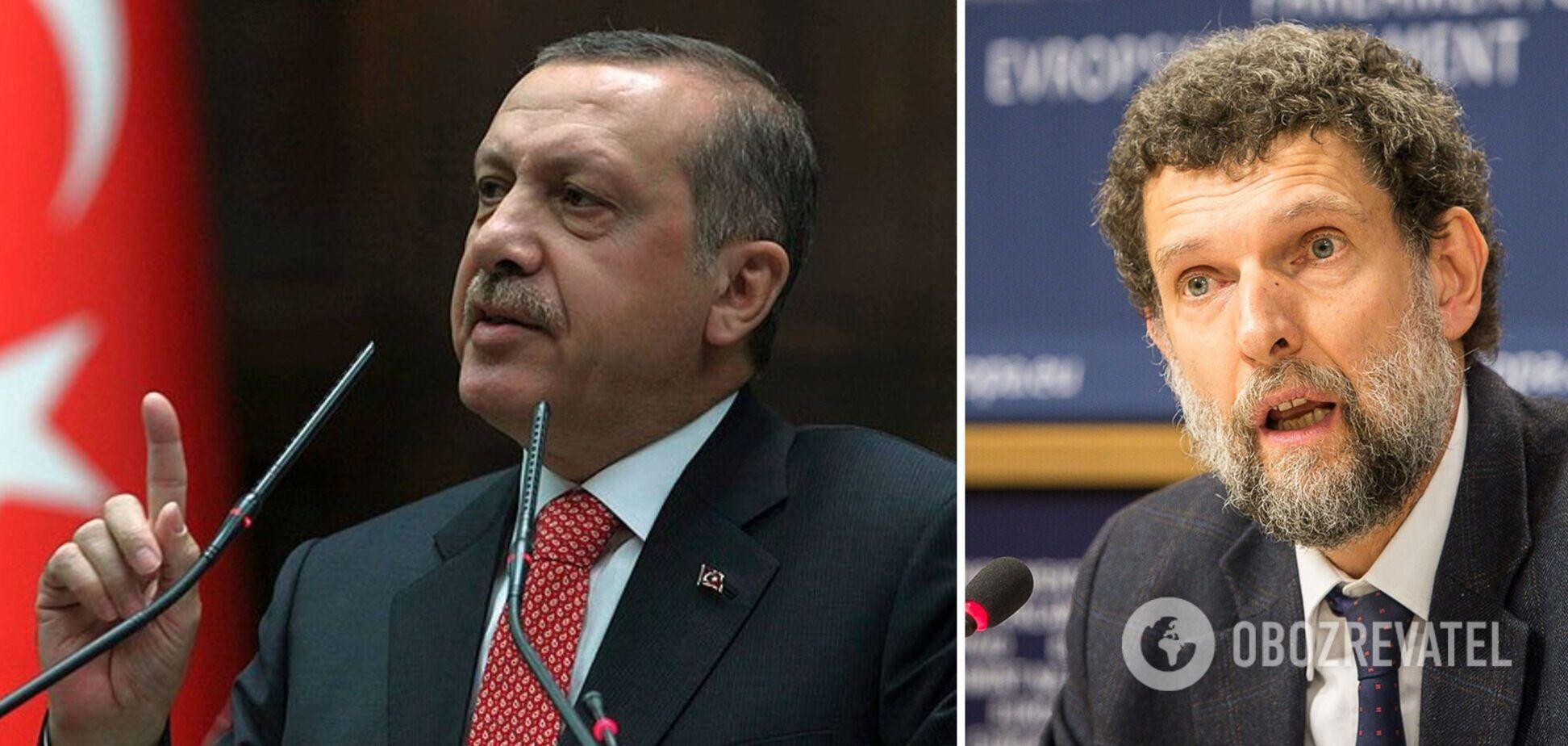 Ердоган розпорядився оголосити персонами нон ґрата послів 10 країн, які закликали звільнити опального правозахисника