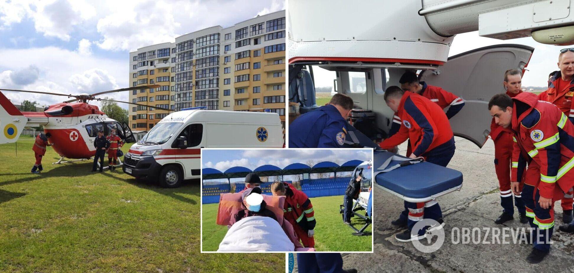 У Львові госпіталізували 15-річну дитину з гострим інсультом: довелося залучити авіацію. Фото