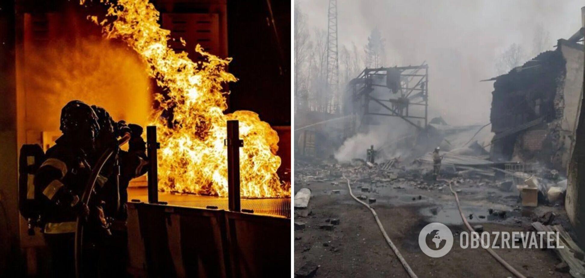 Момент вибуху на заводі під Рязанню потрапив на камери