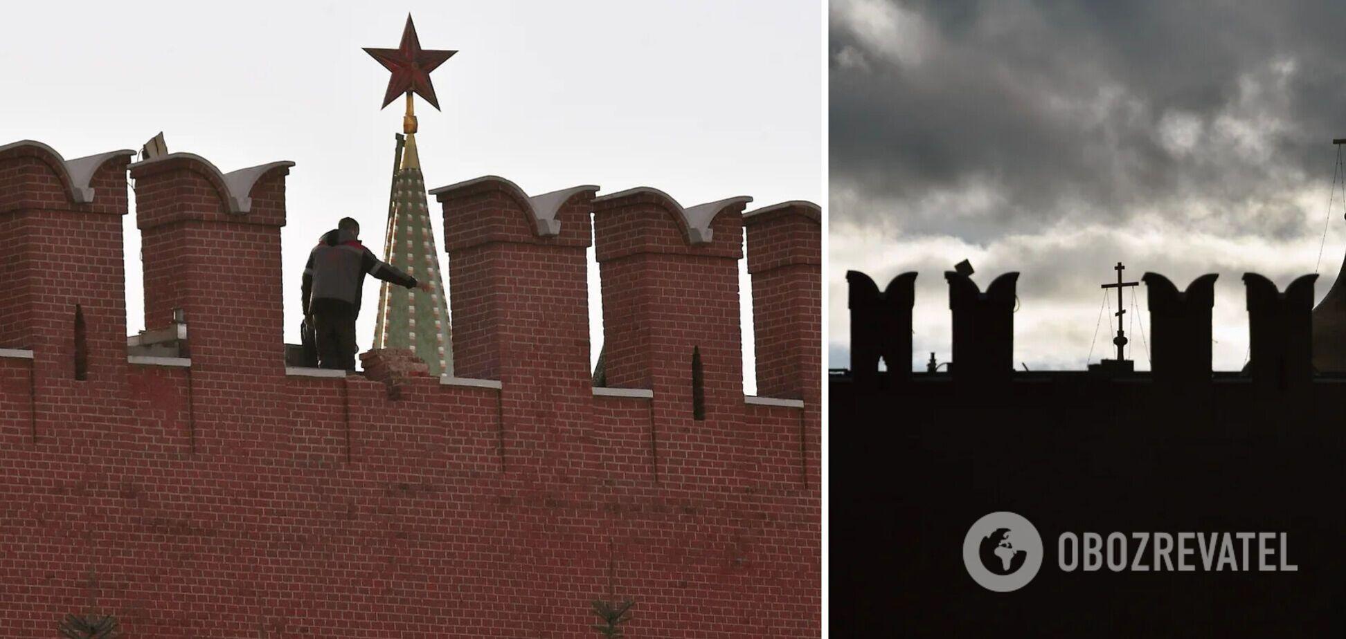 Упал один зубец кремлевской стены
