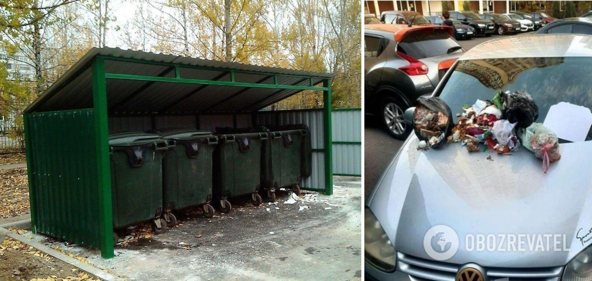 Машина заважала жителям будинку викидати сміття