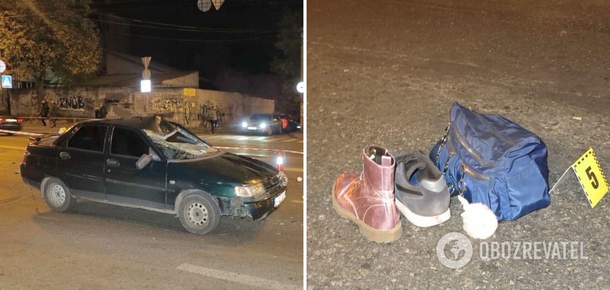 Від удару в пішоходів злетіло взуття