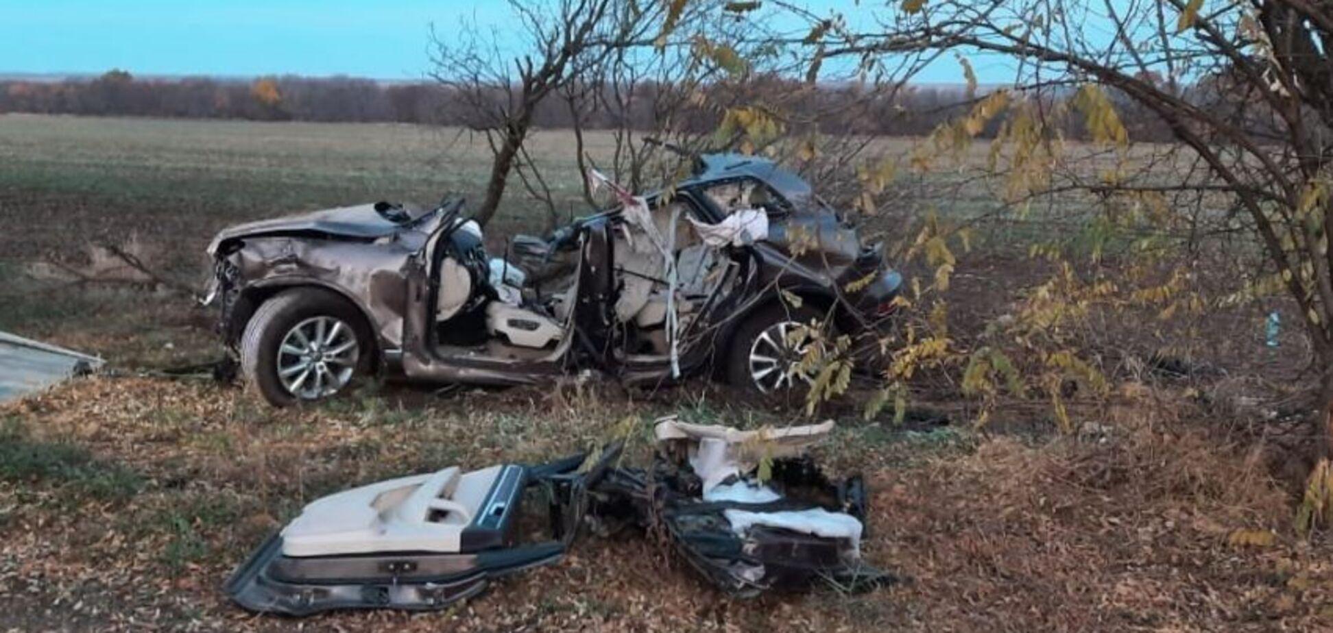 На Херсонщині авто з 15-річним водієм влетіло в дерево: загинули четверо людей, серед них діти. Фото