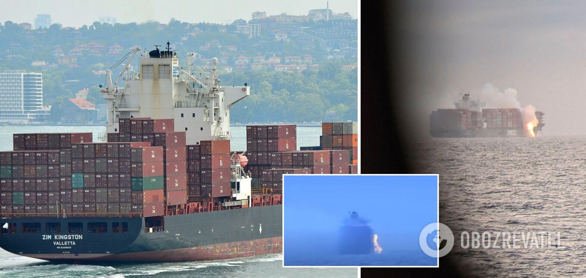Біля берегів Канади загорівся контейнеровоз із хімікатами. Фото та відео