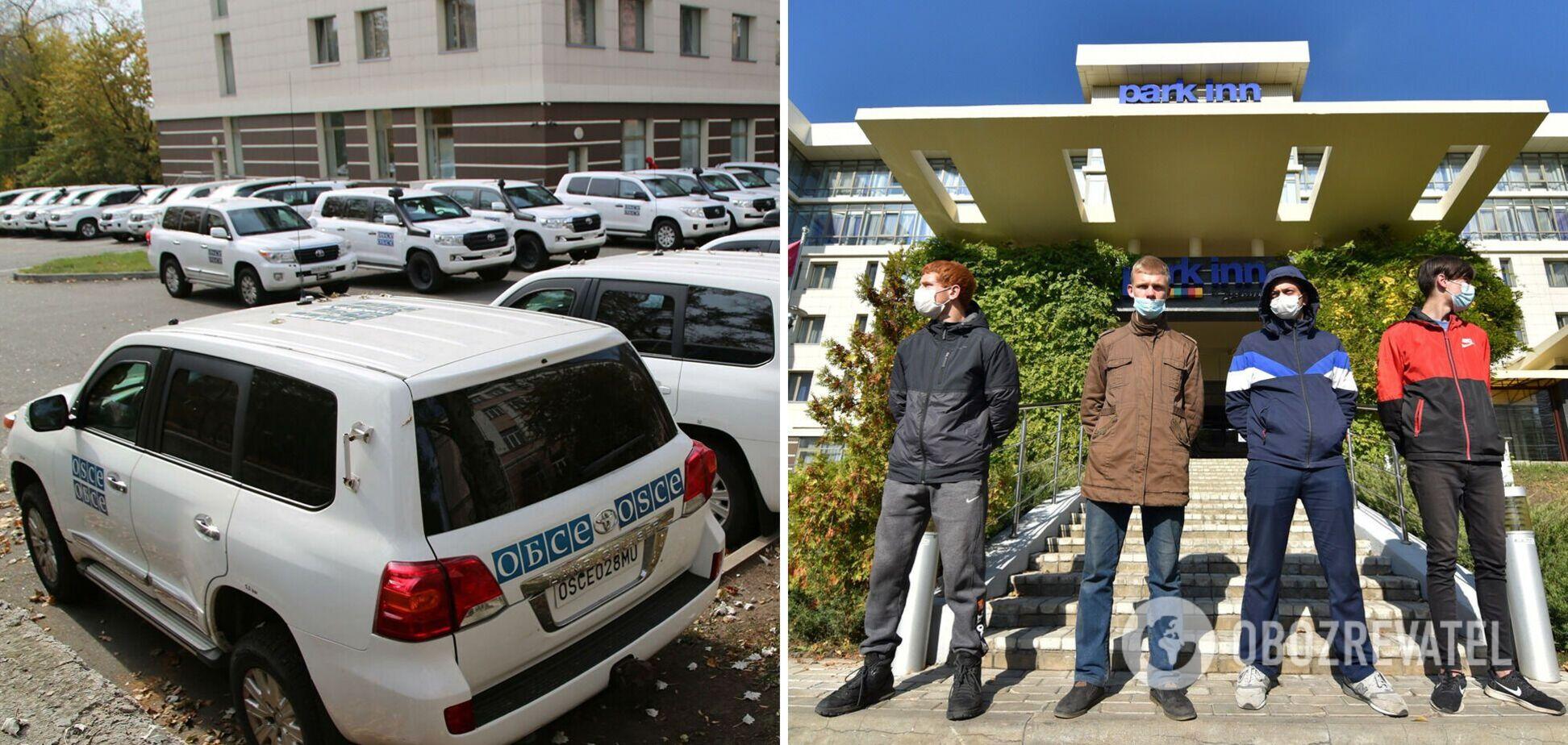 Окупанти, які блокували місію ОБСЄ в Донецьку, стали розбирати намети: з'явилися подробиці