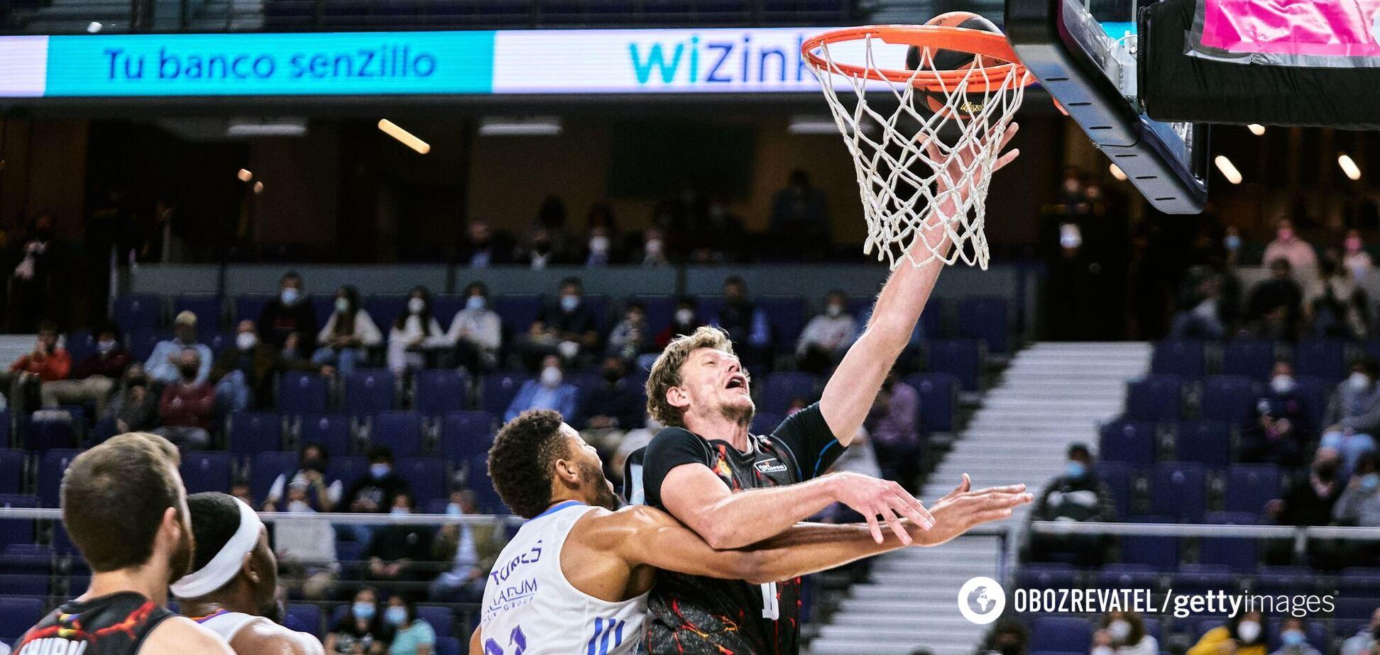 Українець приклав руку до перемоги над 'Реалом' у чемпіонаті Іспанії з баскетболу. Відео