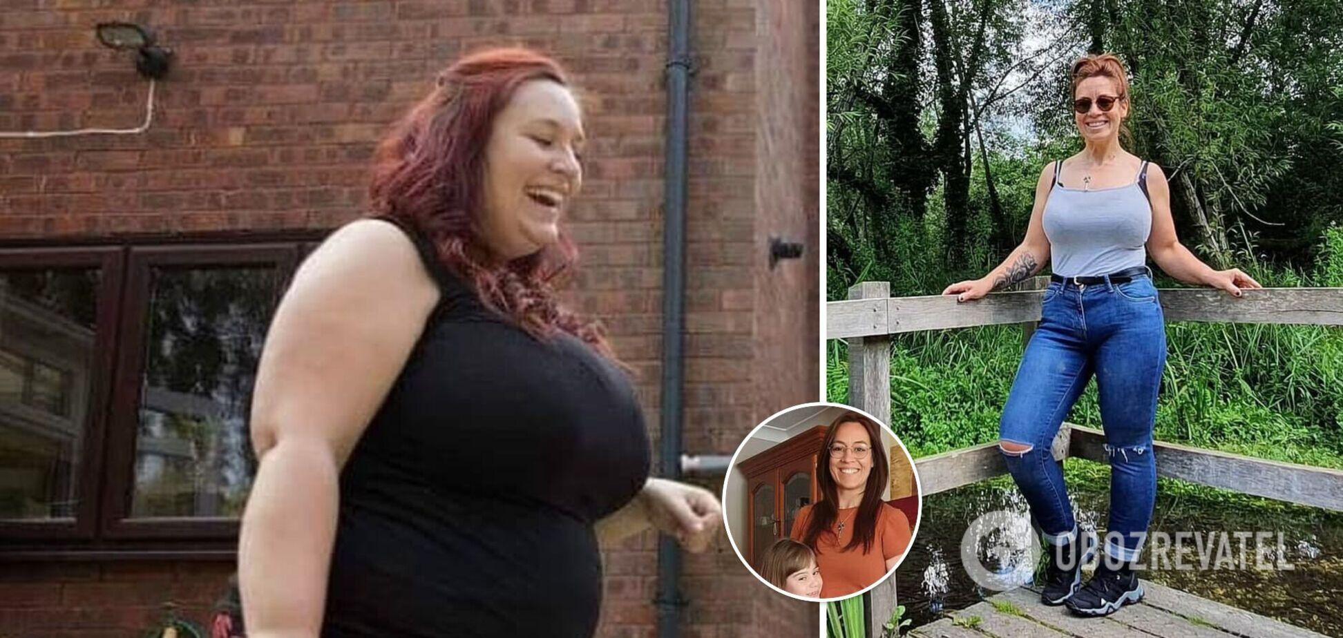 33-річна англійка схудла майже на 50 кг, злякавшись хвороби мами. Фото до і після