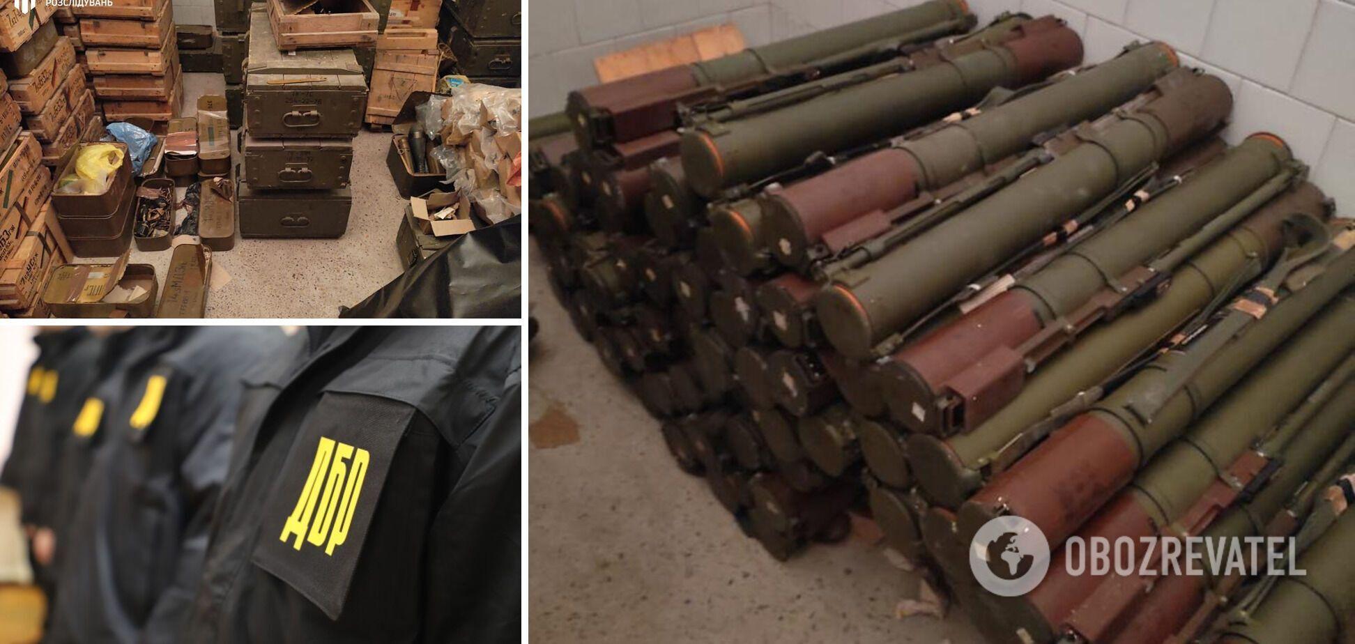 На Донбассе обнаружили огромный арсенал оружия. Фото и видео