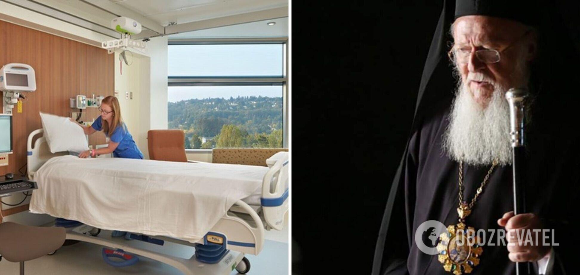 Госпіталізованого напередодні Вселенського патріарха Варфоломія виписали з лікарні