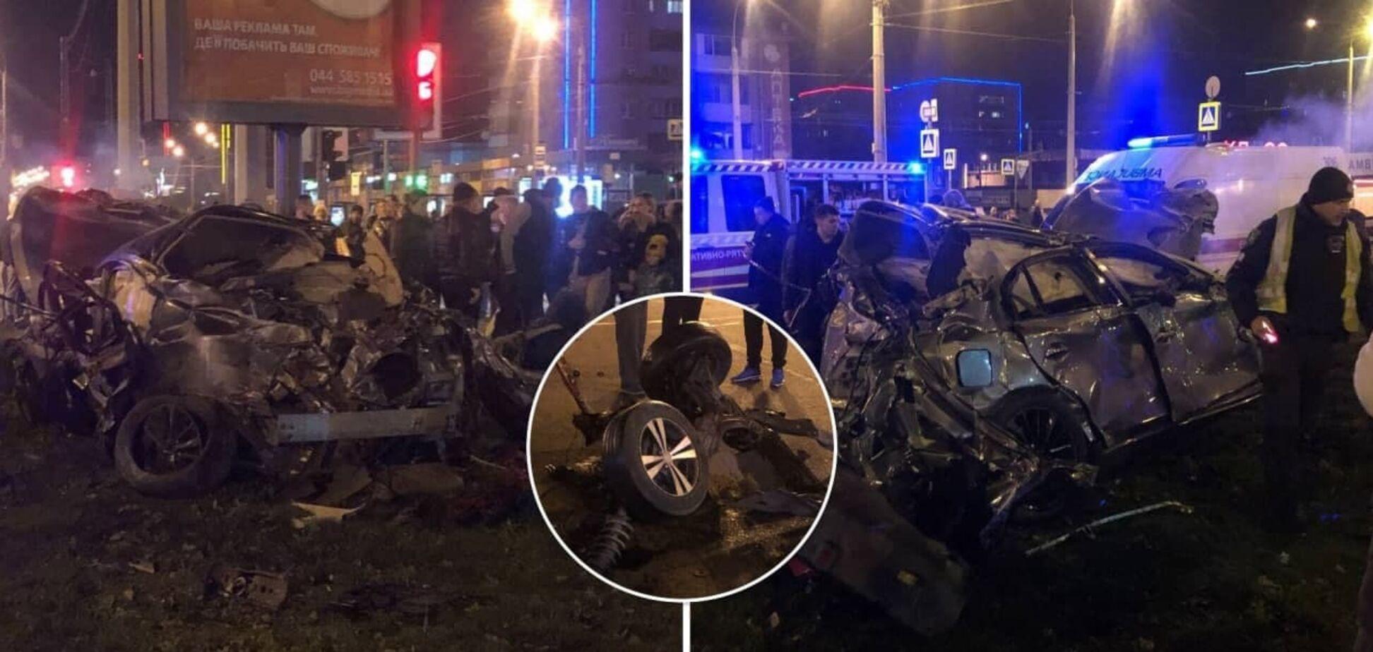 У Харкові на шаленій швидкості зіткнулися два авто: є загиблий та багато постраждалих. Фото і відео