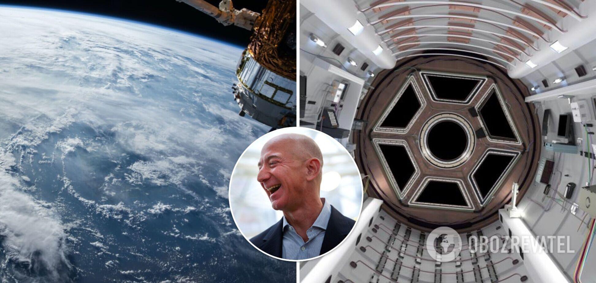Безос будує космічну станцію 'Орбітальний риф': може вмістити близько 10 осіб