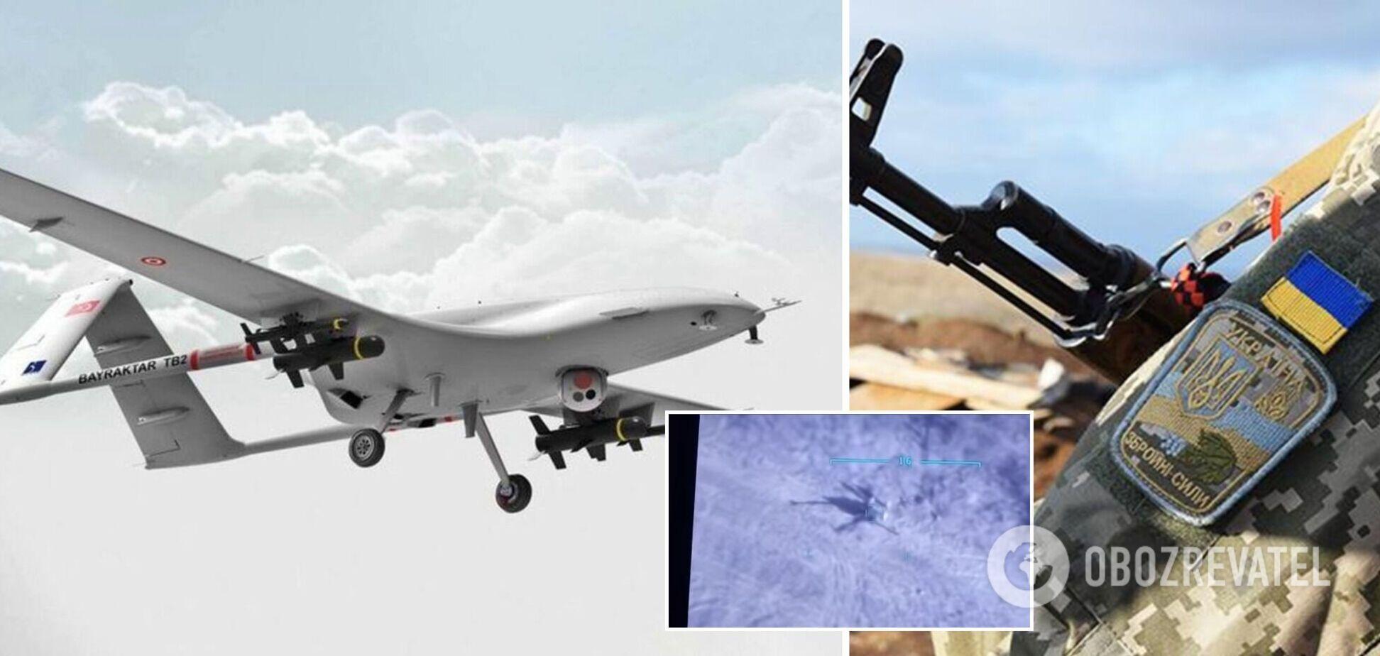 На Донбасі вперше застосували турецький Bayraktar проти ворожої артилерії: роботу бойового дрона показали на відео