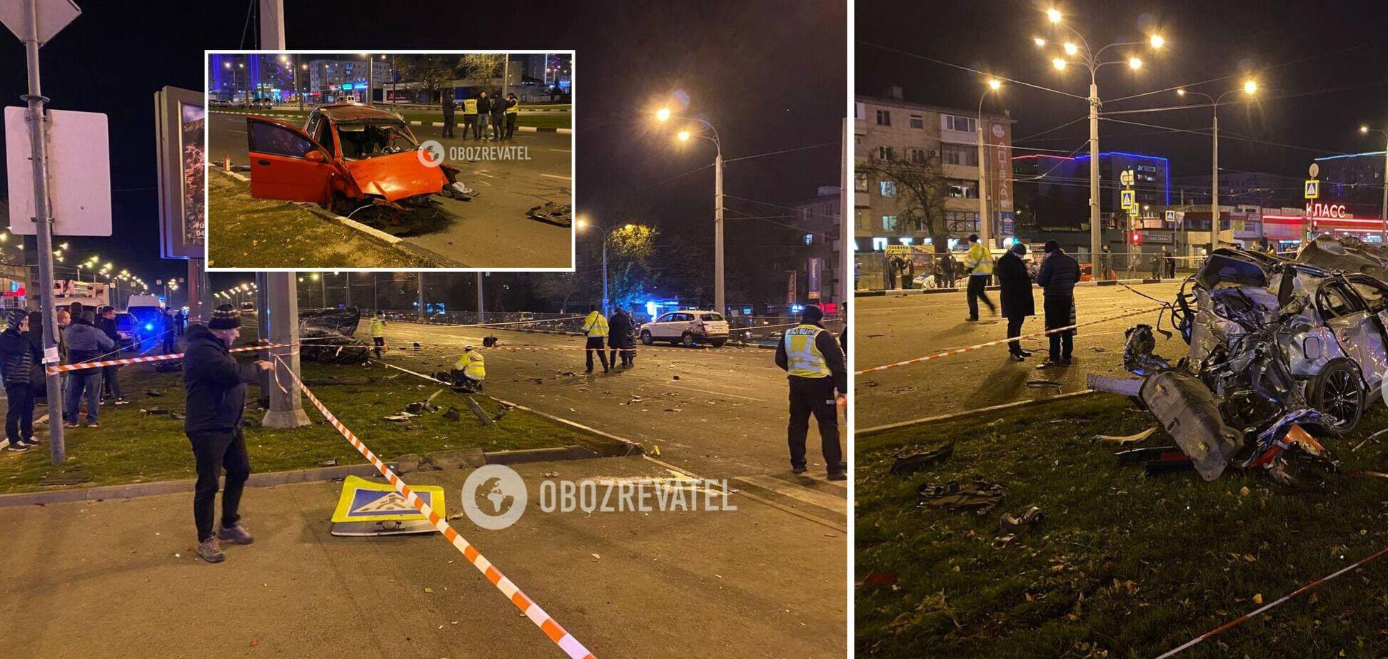 В Харькове 16-летний подросток на Infiniti устроил смертельное ДТП: эксклюзивные фото с места аварии