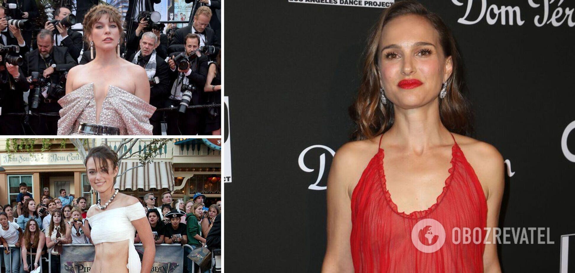 Голлівудські акторки мають маленький розмір грудей