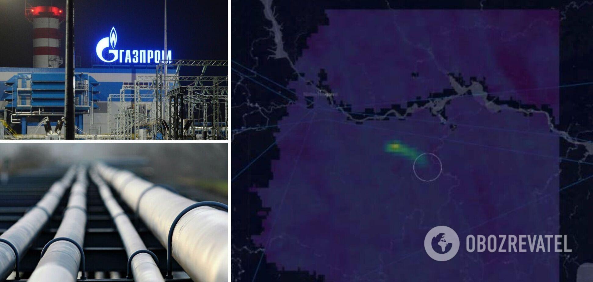 Масштабы выброса Газпрома показали на карте