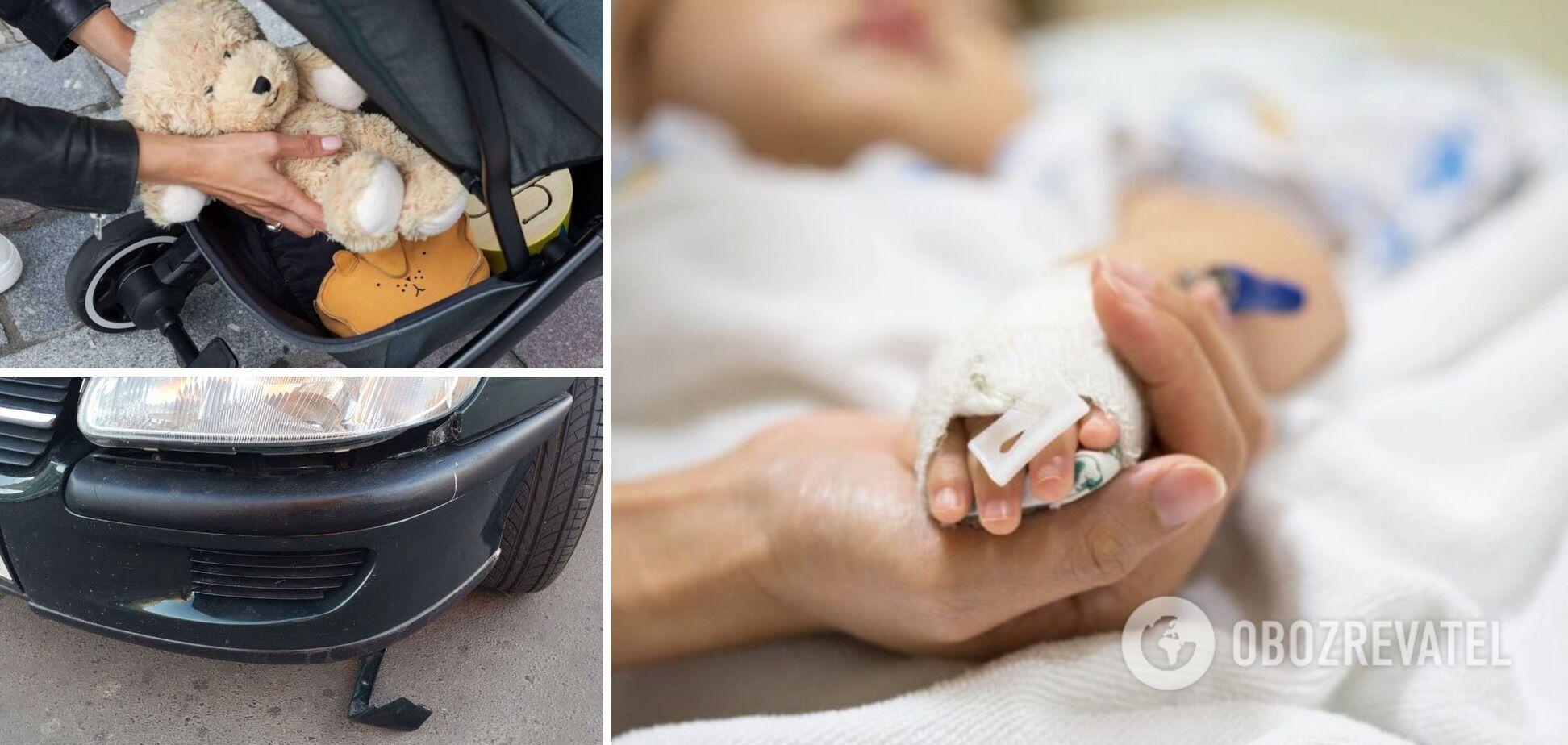 На Рівненщині авто збило коляску з дитиною, хлопчик потрапив у реанімацію. Фото