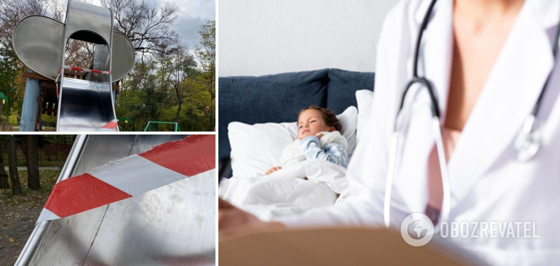 В Одесі дівчинка втратила фалангу пальця, катаючись на дитячій гірці. Фото та деталі НП