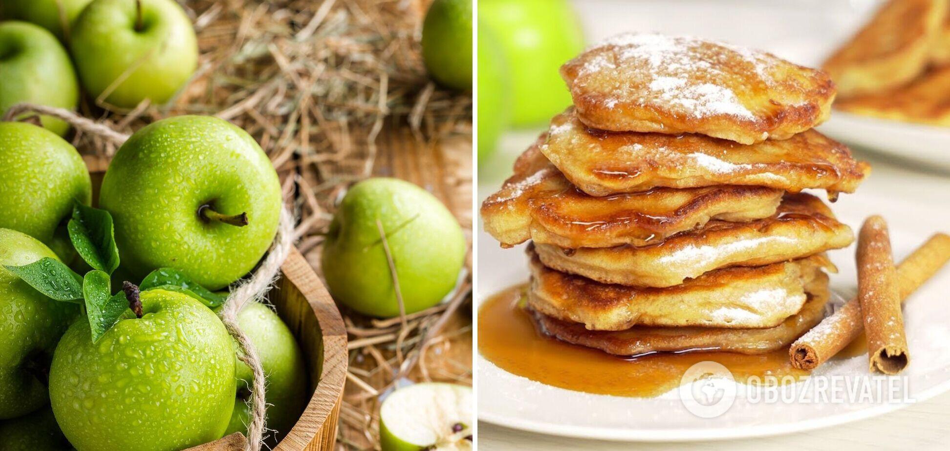 Оладьи с яблоком