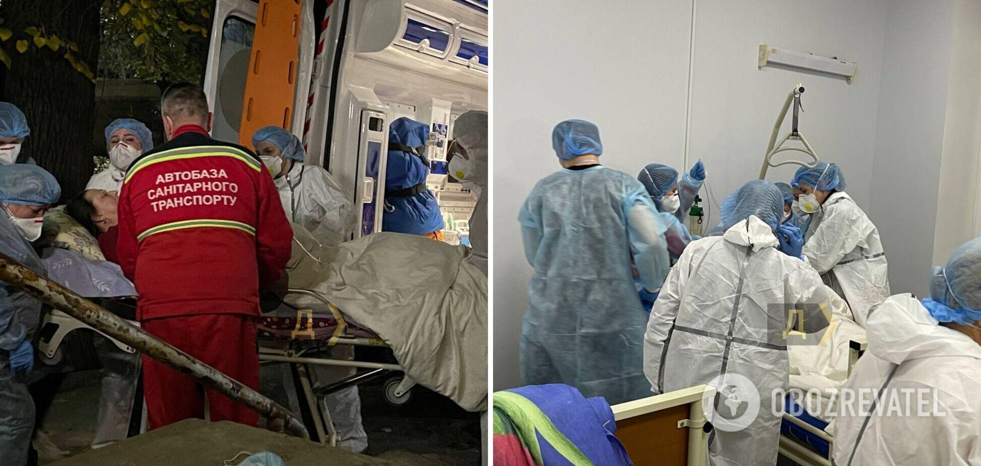 Эвакуация больных в Одессе