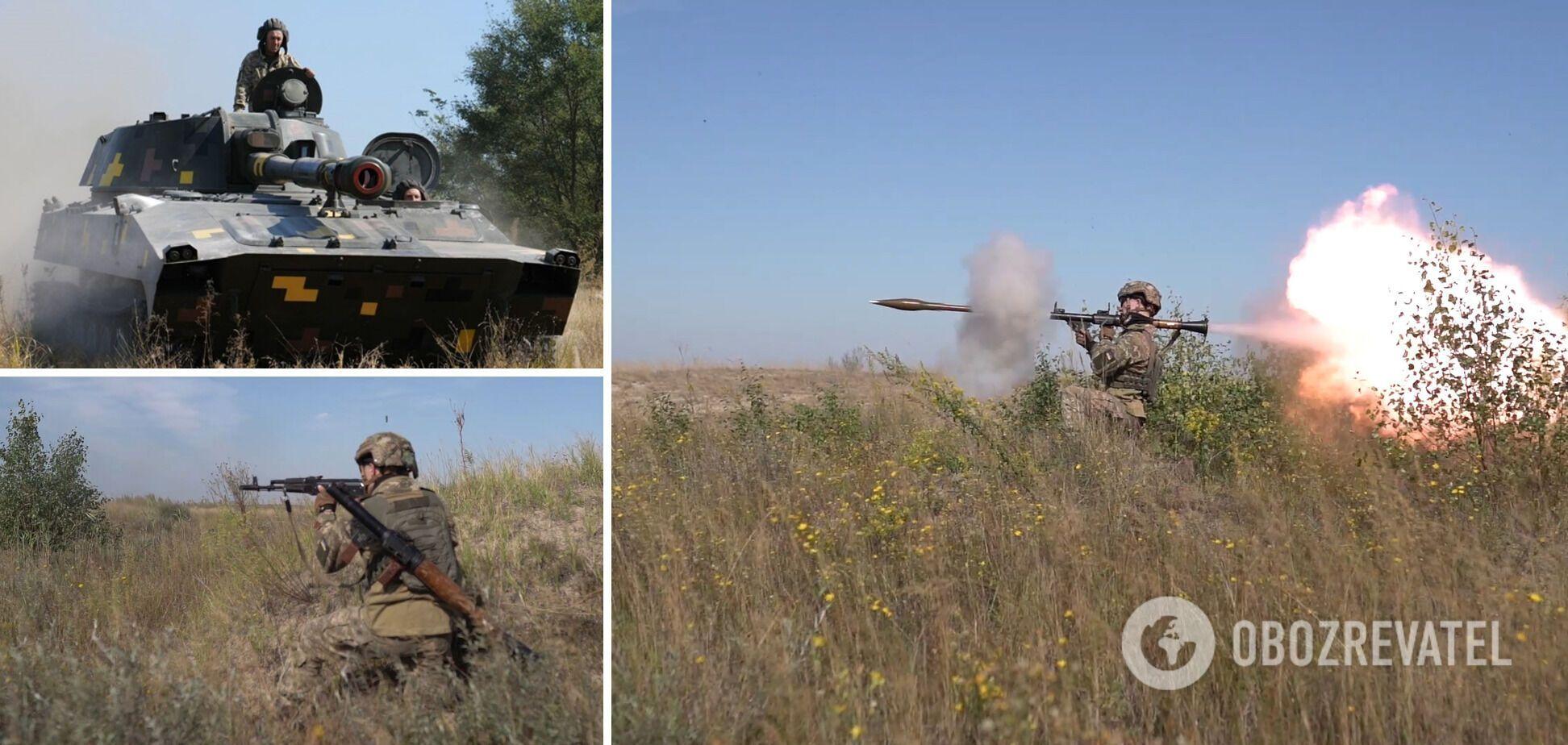 ВСУ отработали уничтожение десанта противника с применением САУ 'Гвоздика'. Фото и видео