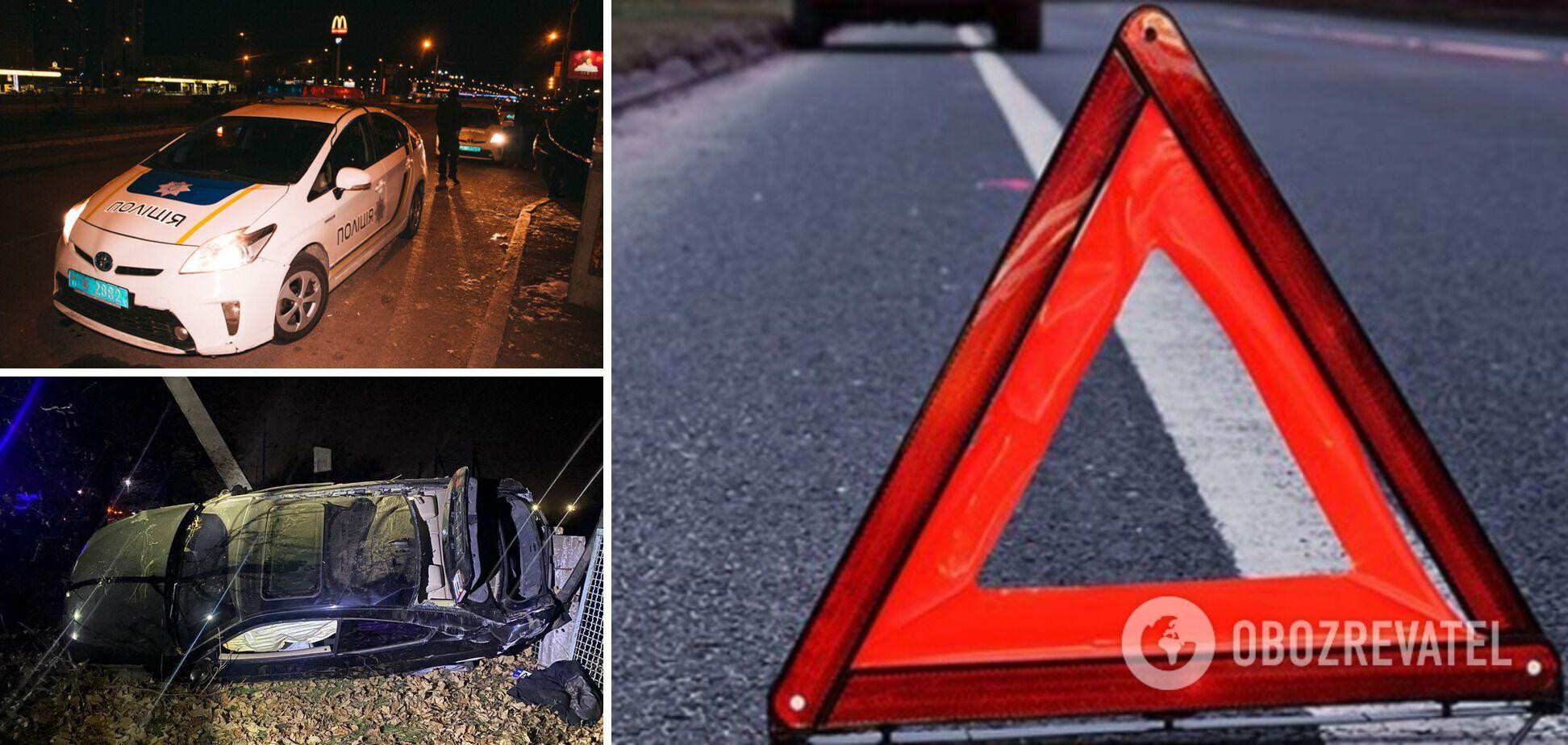 На Дніпропетровщині автомобіль влетів у стовп, загинула 17-річна дівчина. Фото