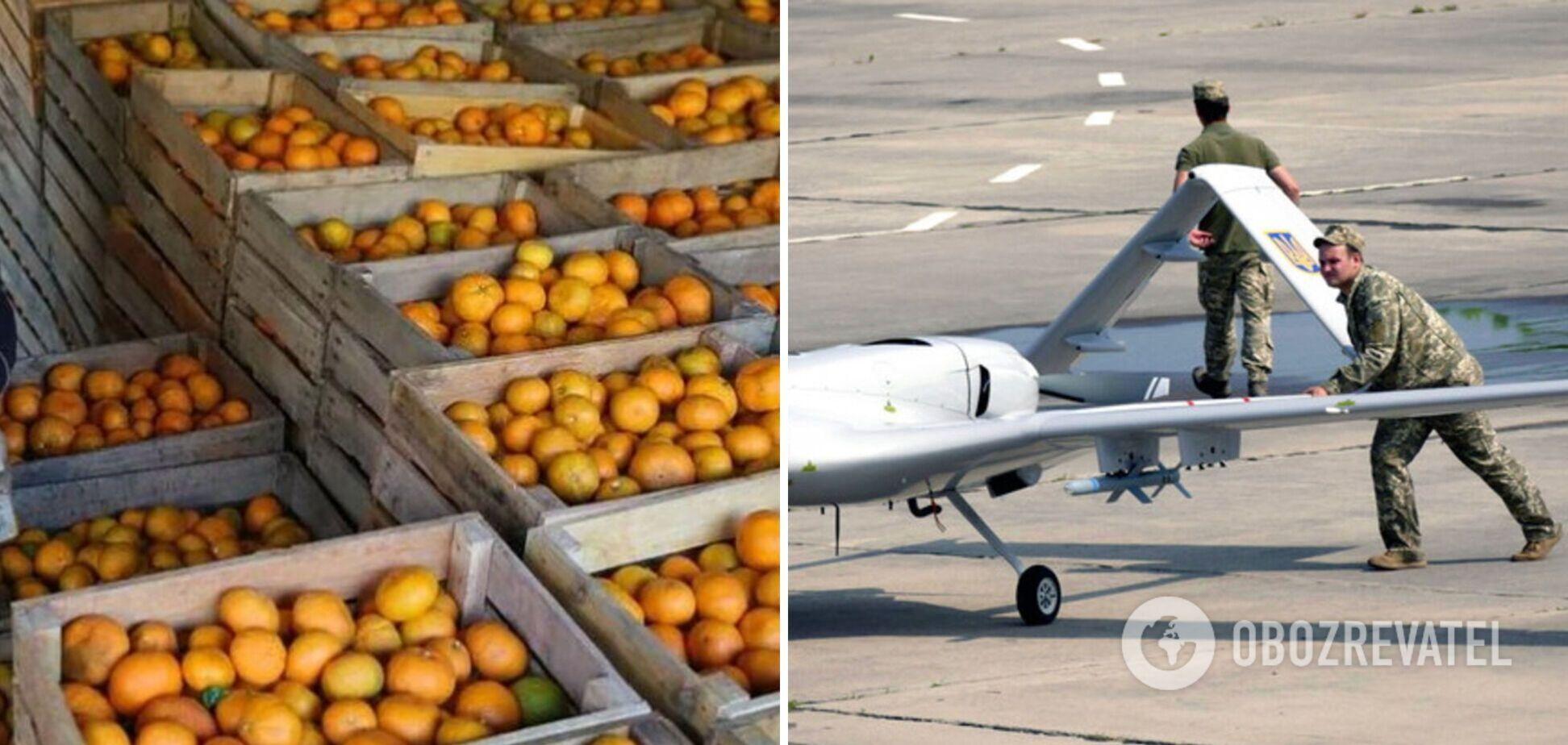 Росія зупинила ввезення мандарин із Туреччини після застосування на Донбасі турецьких Bayraktar