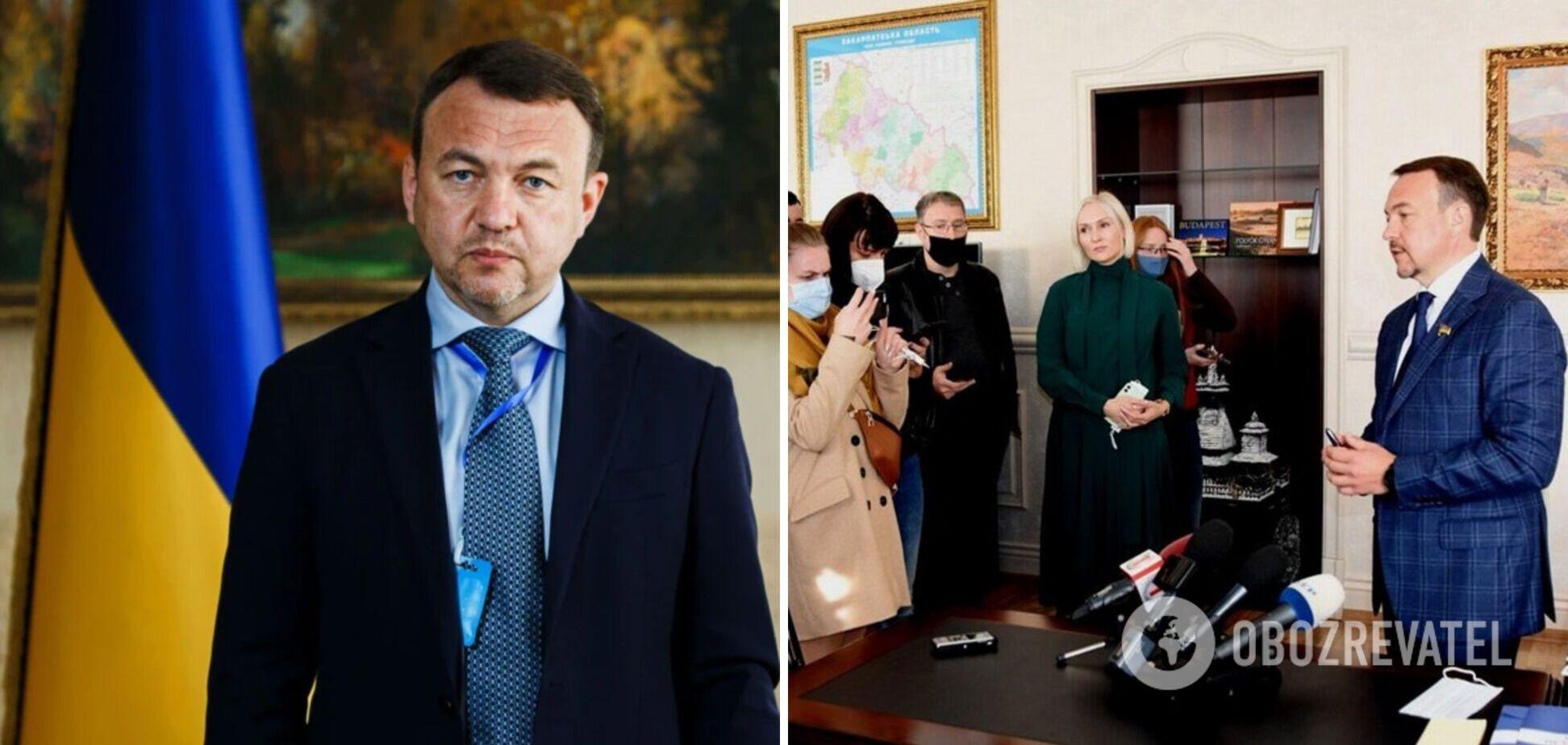 Голову Закарпатської облради зі 'Слуги народу' зняли з посади: він не згоден із відставкою та звернувся до СБУ