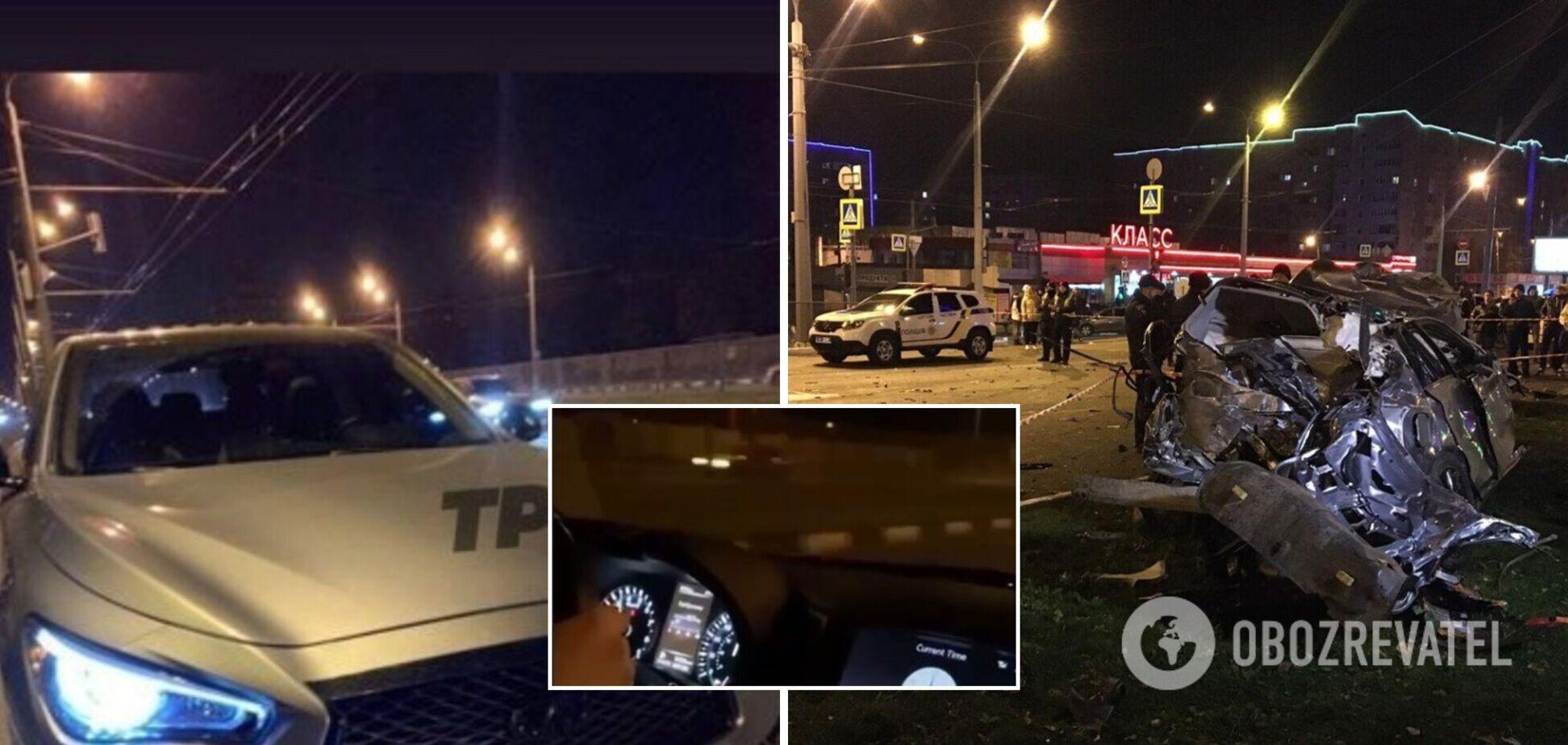 В сеть попали видео с телефонов пассажиров Infiniti, совершившего смертельное ДТП в Харькове