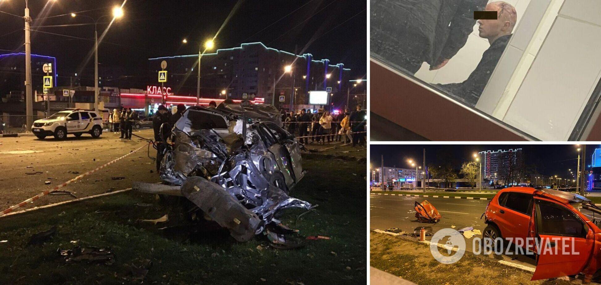Гнали під 200 км/год і ледь не збили людину: в мережу злили відео з телефонів пасажирів винуватця ДТП у Харкові