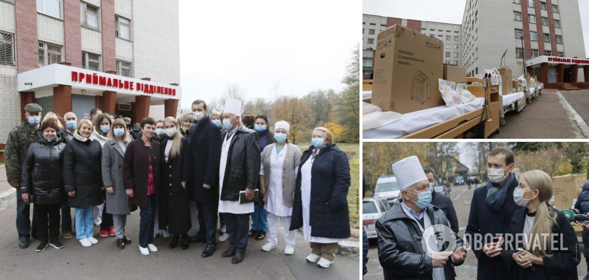Тимошенко зустрілася з працівниками Чернігівської міської та обласної лікарень