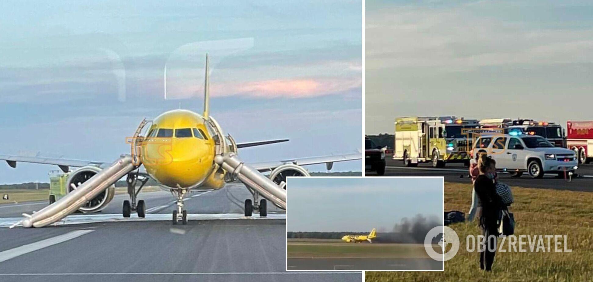 У США під час зльоту загорівся пасажирський літак: з'ясувалися подробиці НП. Відео