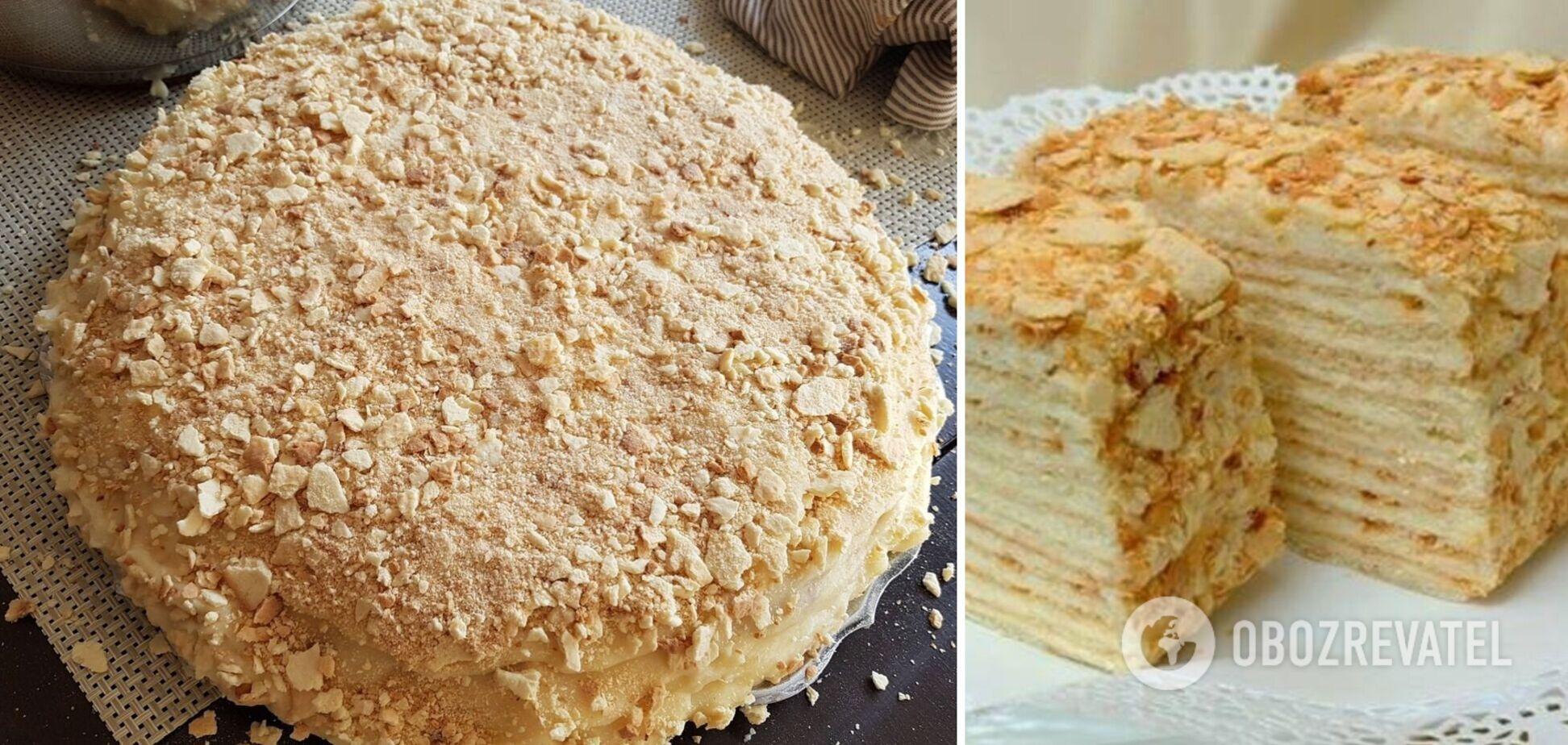 Торт 'Наполеон': рецепт зі смаком дитинства