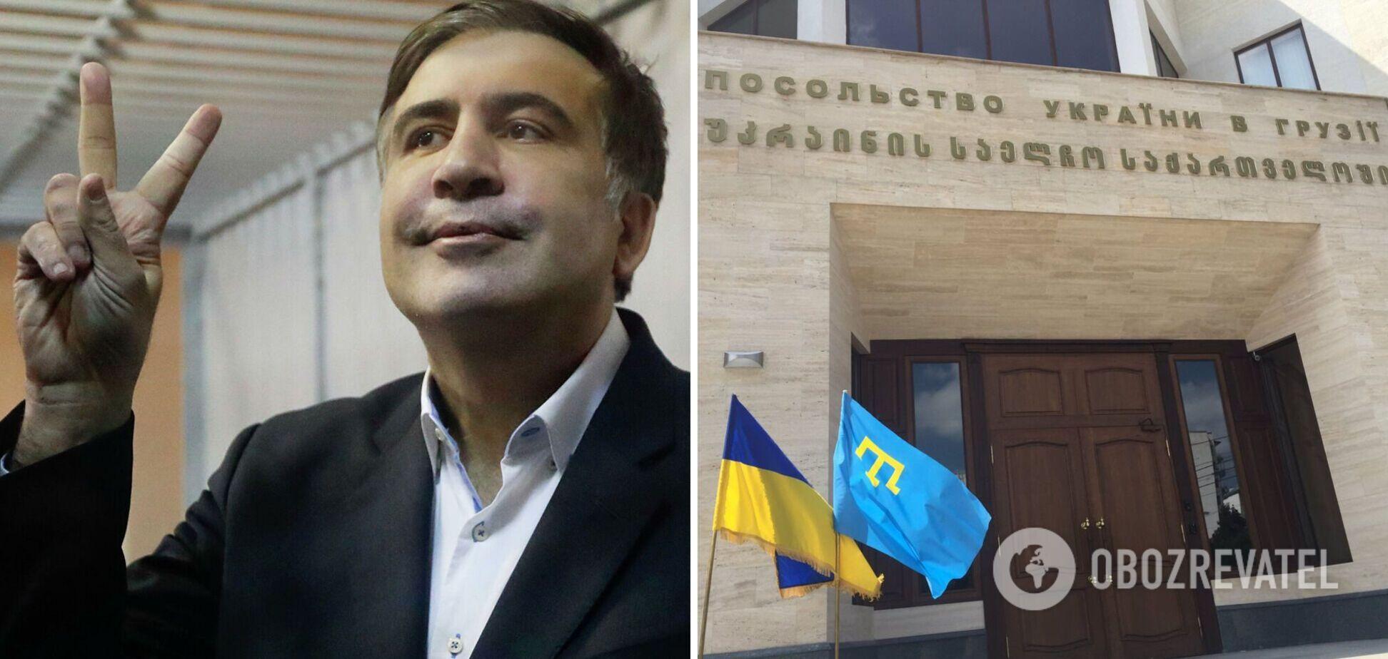 Український консул у Грузії зустрілася з Саакашвілі у в'язниці