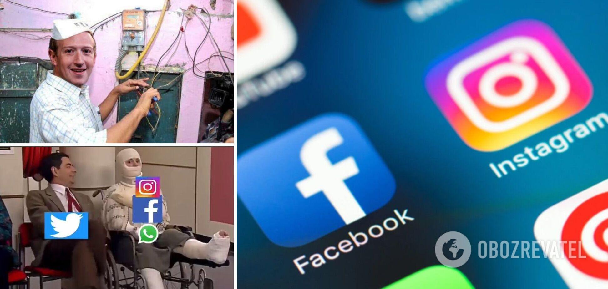 'Похороны', Цукерберг-электрик и приглашение от Twitter: в соцсетях потроллили сбои в Facebook, Instagram, WhatsApp