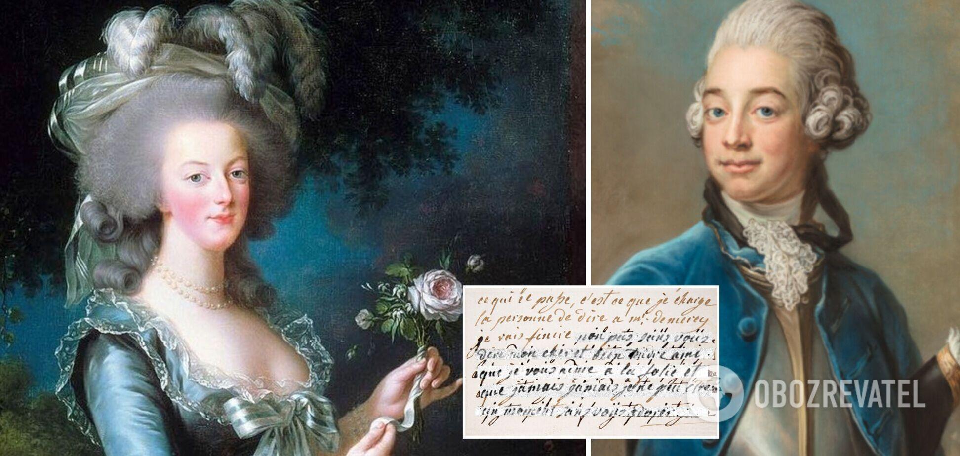 Вчені розшифрували таємне листування королеви Франції Марії-Антуанетти з коханцем. Фото