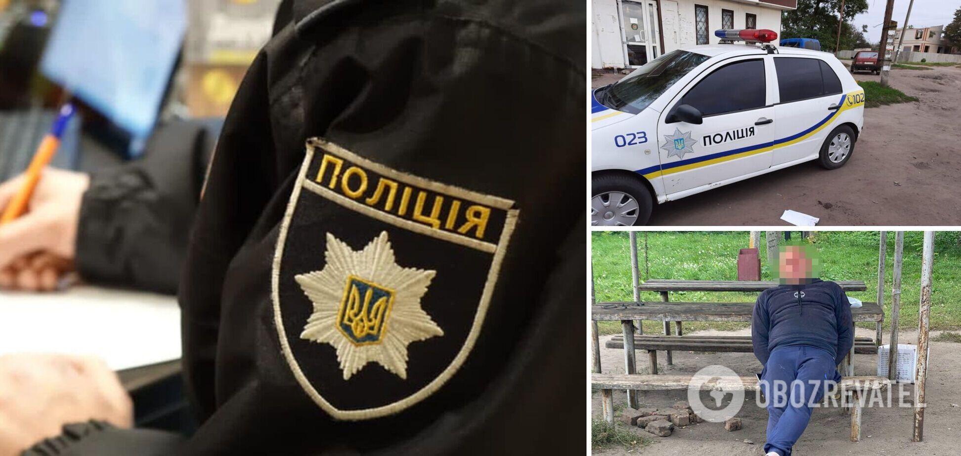 Ударив у чоло: під Харковом п'яний неадекват побив поліцейського. Фото