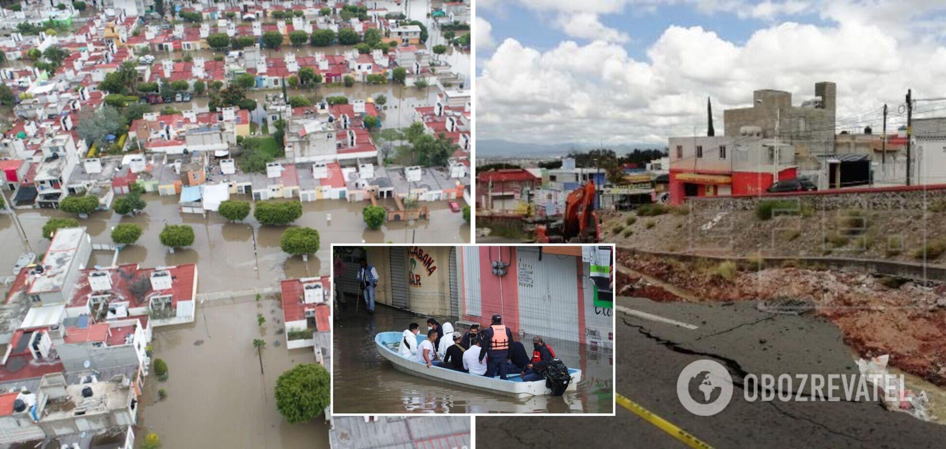 У Мексиці через потужну повінь пошкоджені тисячі будинків: є загиблі і зниклі безвісти. Фото і відео