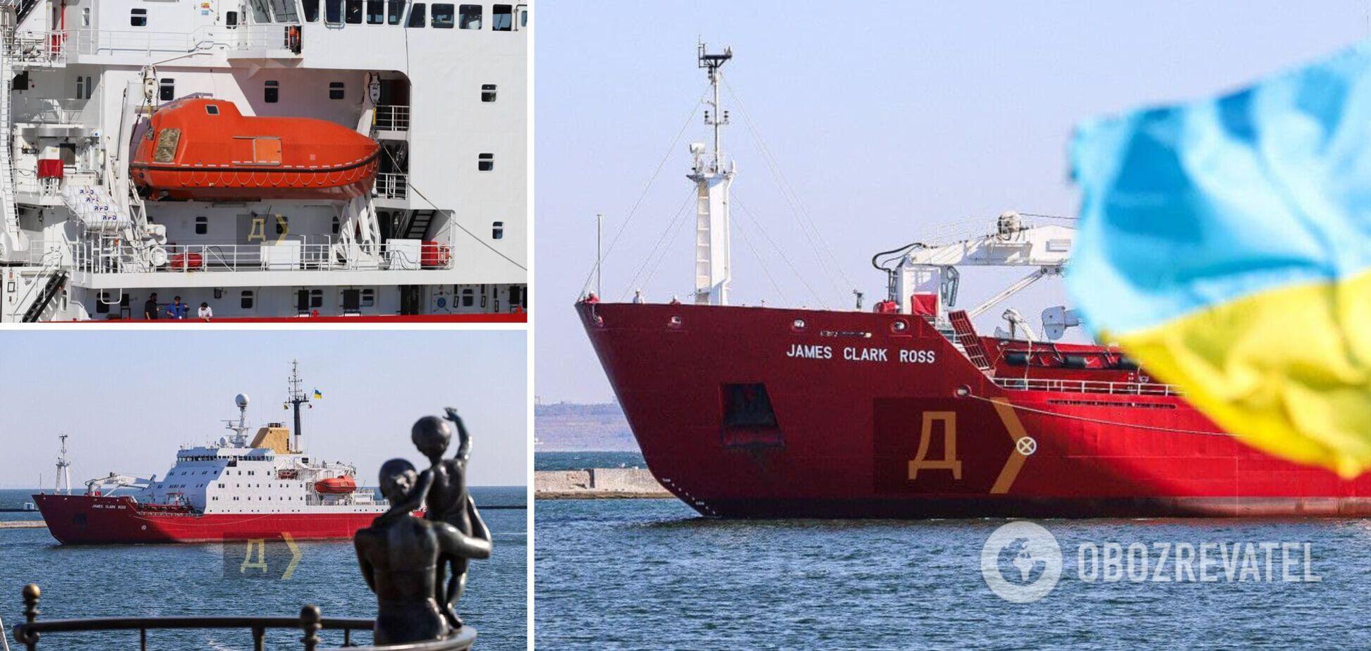 У порту Одеси пришвартувався новий український криголам. Фото і відео