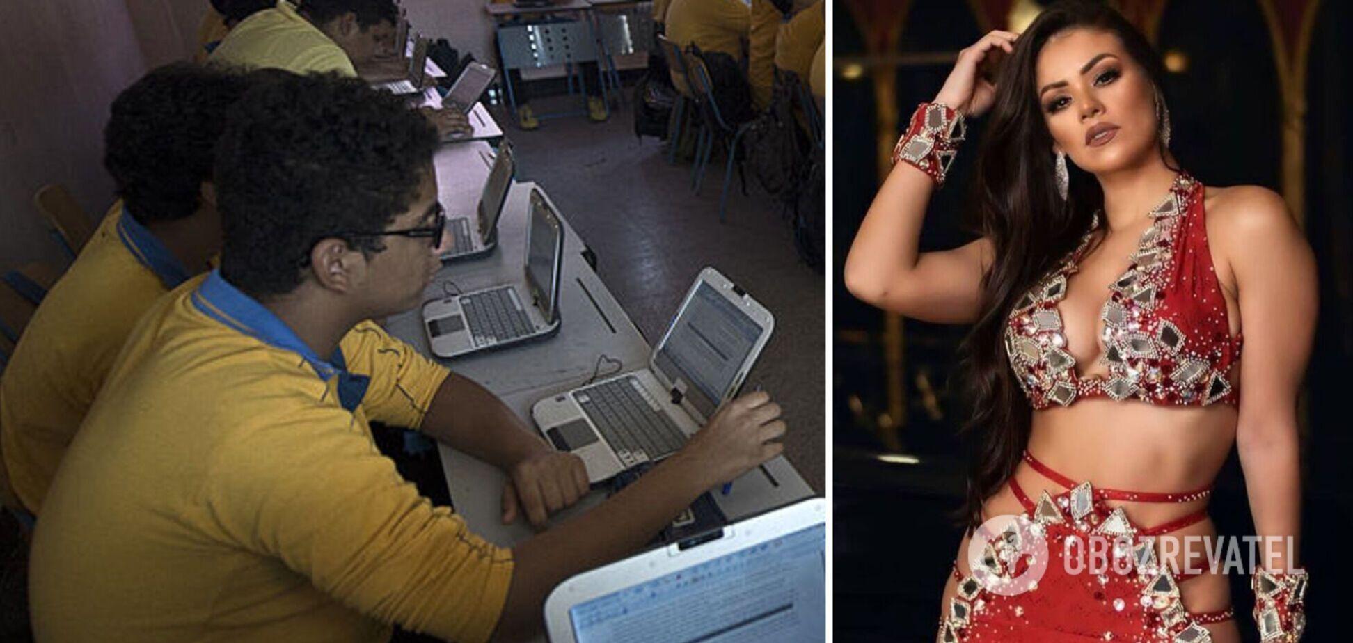 Школярі дивилися відео танцю живота Лурдіани. Ілюстрація