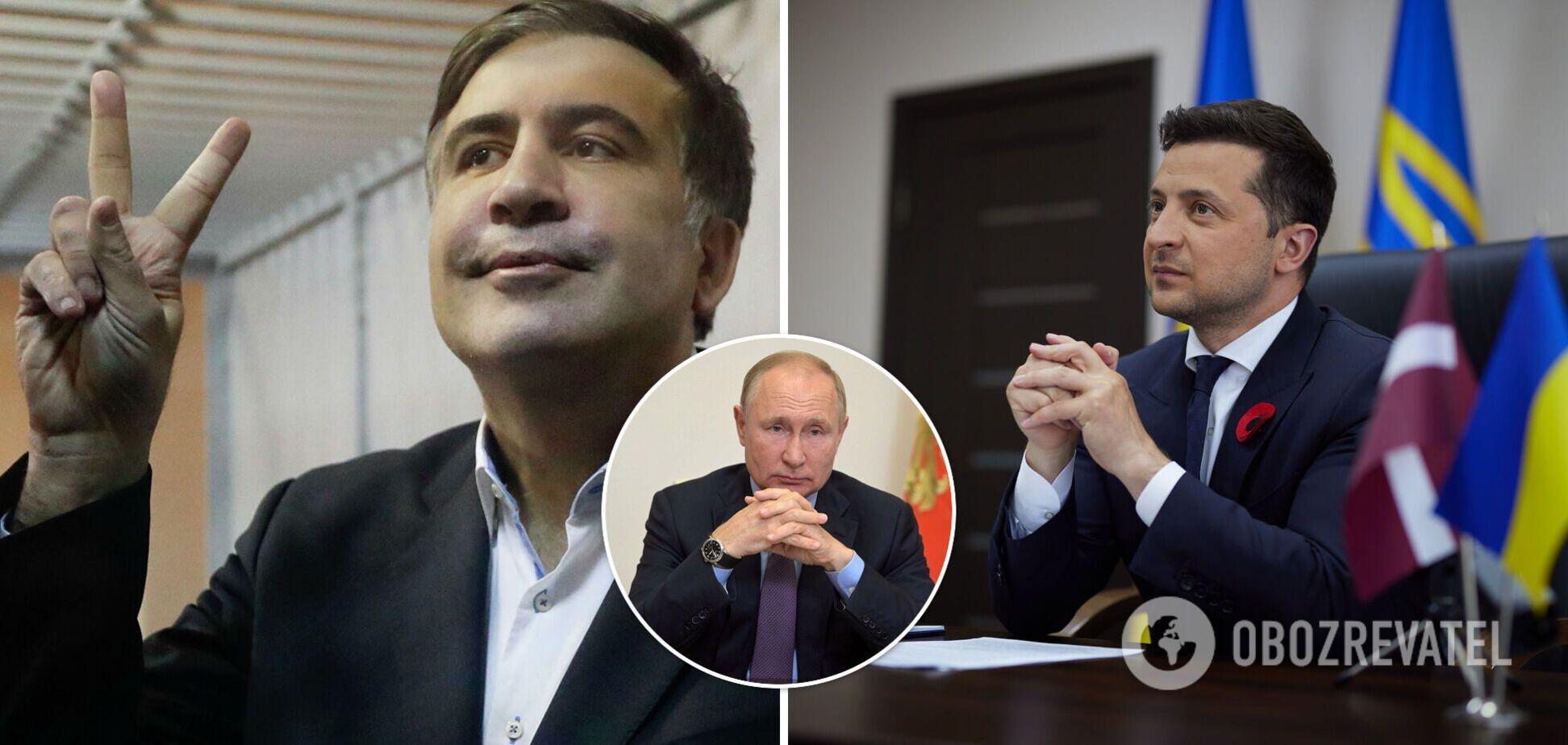 Саакашвілі написав листа Зеленському та назвав себе 'в'язнем Путіна'