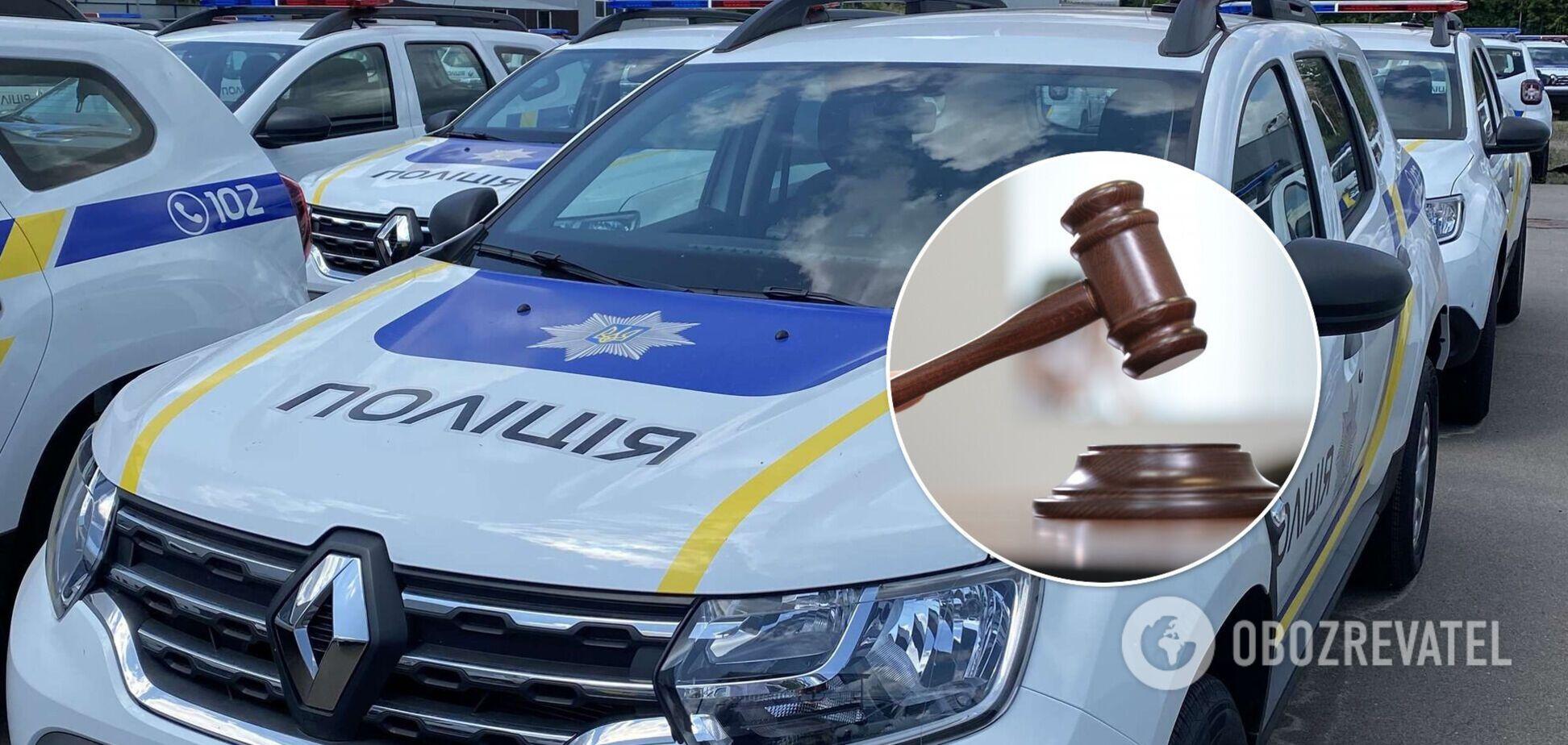 У Львові лікар розбив чотири поліцейських авто і помочився під відділенням: його оштрафували
