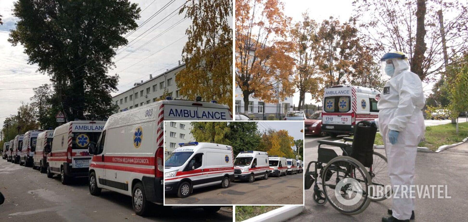 Очереди из скорых и по 15 человек в палатах: харьковские COVID-больницы уже заполнены на 110%. Фото и видео