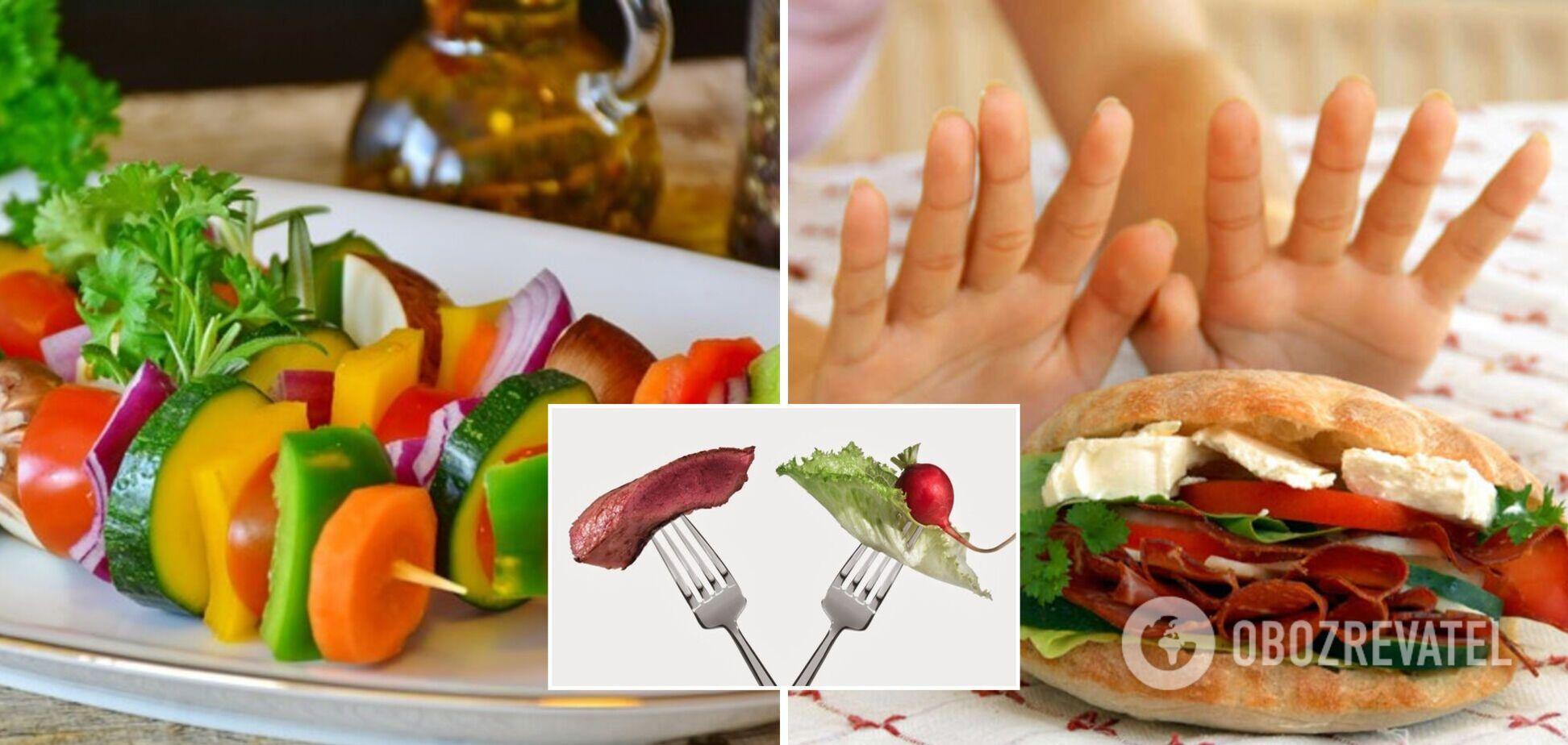 Відмова від м'яса має низку переваг для здоров'я