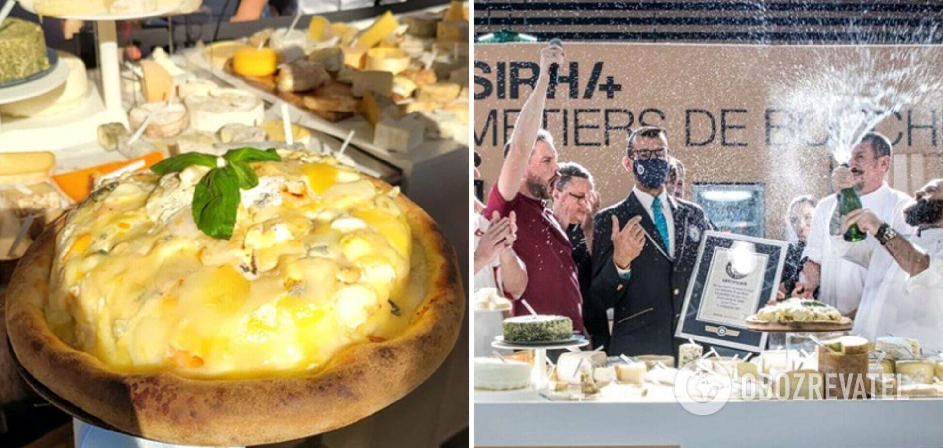 Піца з 800 видів сирів – новий рекорд Гіннеса встановили французькі шеф-кухарі