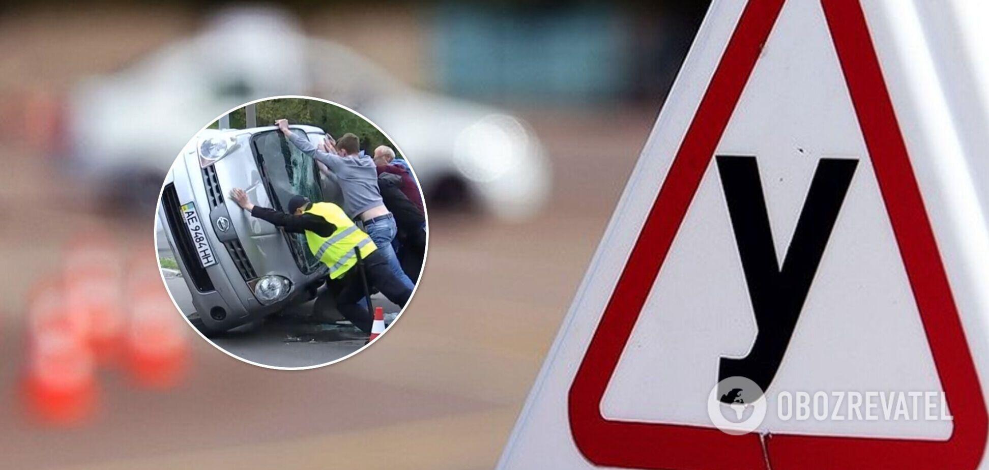 У Дніпрі учень автошколи потрапив у ДТП: у машини відмовили гальма. Фото