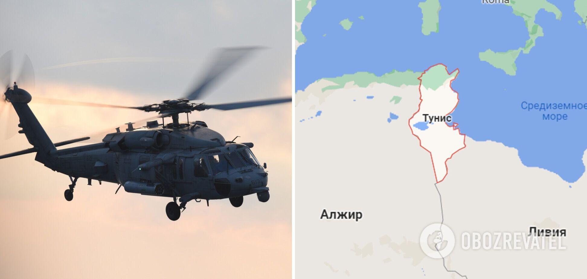 У Тунісі розбився вертоліт