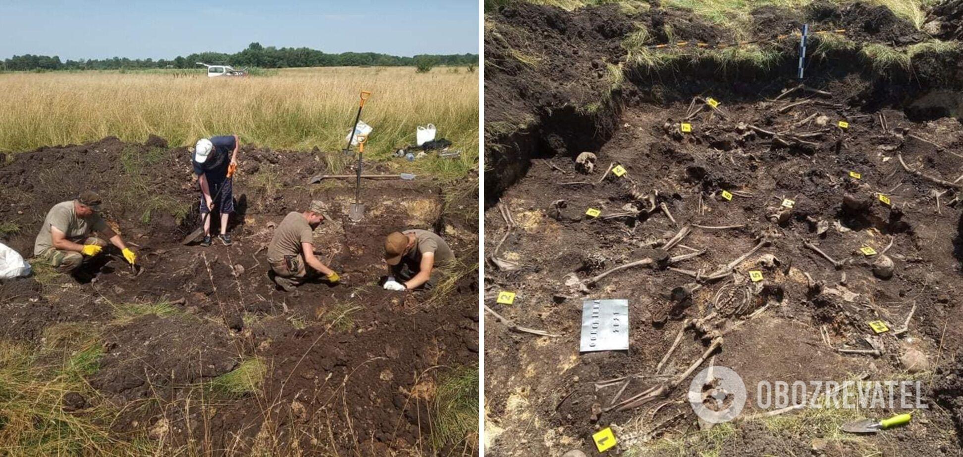 Під Львовом знайшли масове поховання вбитих НКВС воїнів УПА. Фото